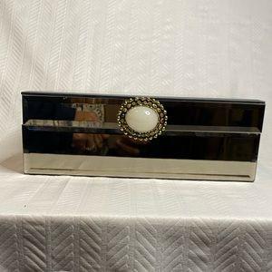 Simple beautiful mirrored jewelry or trinket box.